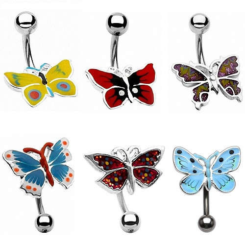 Bauchnabelpiercing Stecker Schmetterling Butterfly