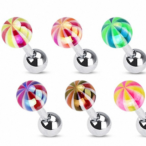 Tragus Piercing Helix Metallic Candy Ball