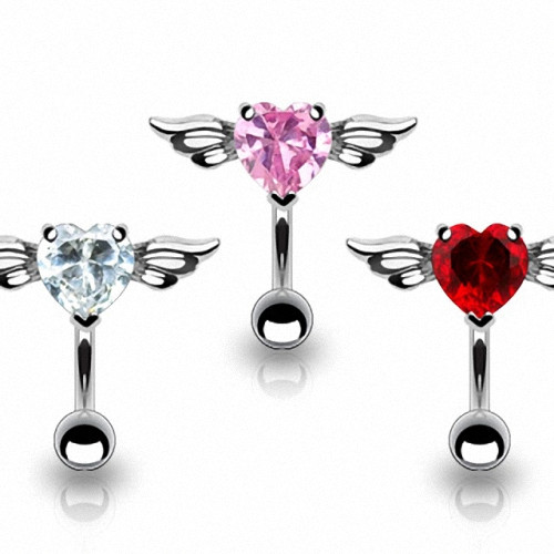 Bauchnabelpiercing Stecker Engel Kristall Flying Heart