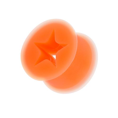Silikon Ohr Plug Hider Stern Inlay - Orange