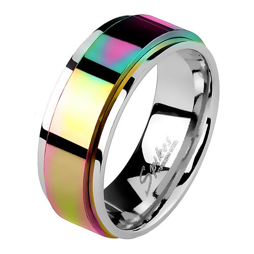 Edelstahl Ring Spinning Center Rainbow