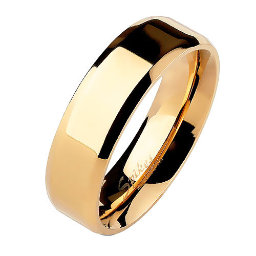 Herren & Damen Ring Partnerring Edelstahl Roségold IP