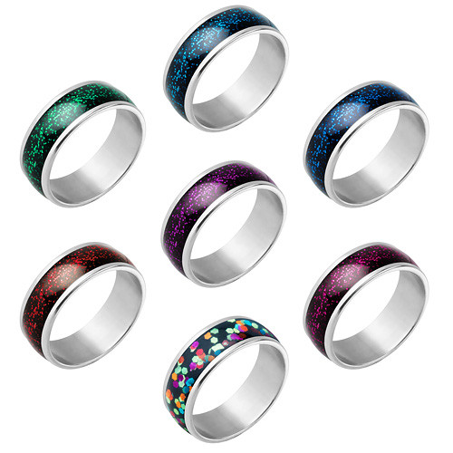 Damen Herren Schmuck Ring Ultra Glitter Partnerring
