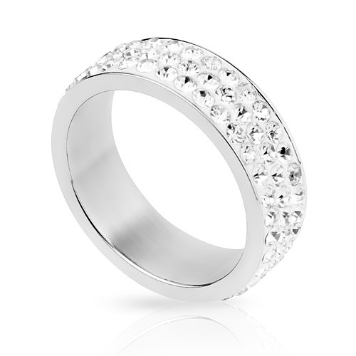 Damen Multi Bling Kristall Schmuck Ring