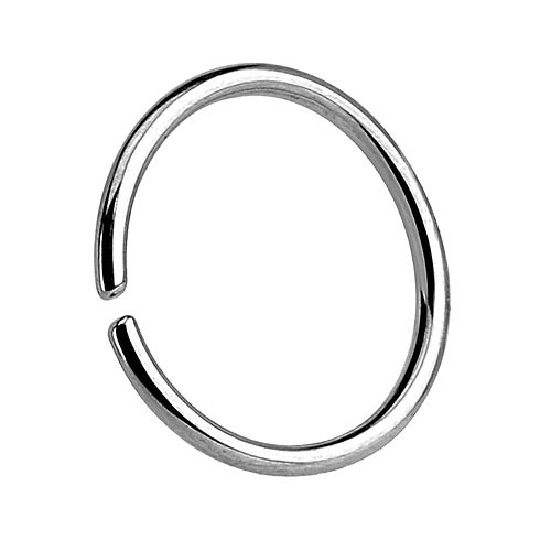 Nasenpiercing Septum Piercing Continuous Ring 925 Silber