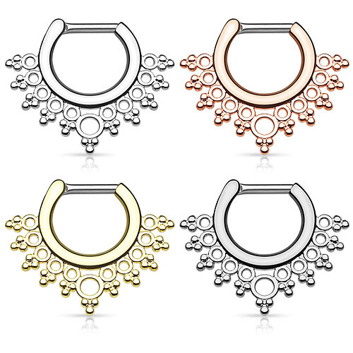 Septum Piercing Clicker Nasenpiercing Ring Lacey Design