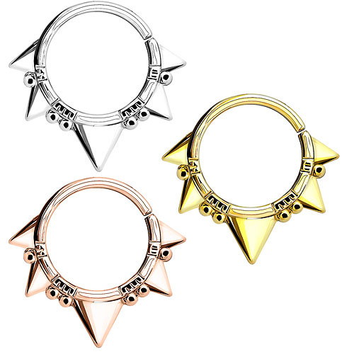 Septum Piercing Continuous Ring Tribal Dreiecke und Perlen
