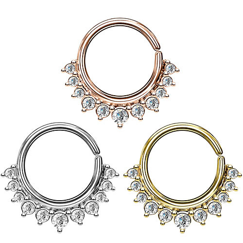 Septum Piercing Continuous Vintage Kristall Ohr Knorpel Ring