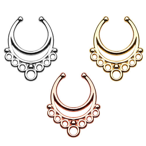 Fake Septum Piercing Ring Nasenpiercing Aztekisches Tribal