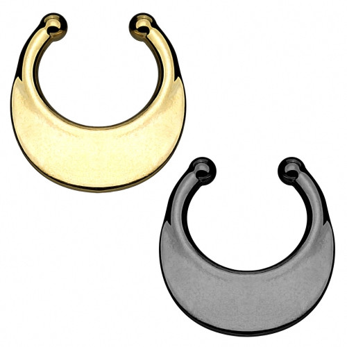 Fake Septum Schmuck Nasenpiercing Clip On Hänger Schild