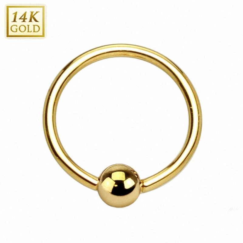 echt 585er gold 14 kt intimpiercing bcr bead ring piercing shop. Black Bedroom Furniture Sets. Home Design Ideas