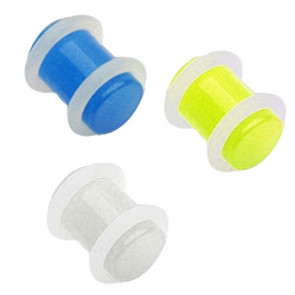 Flesh Ohr Plug UV Glow in the Dark