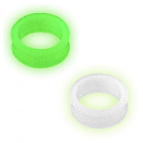 Silikon Flesh Ohr Tunnel Glow in the Dark
