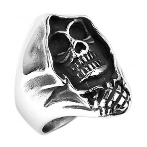 Biker Rocker Ring Sensenmann Ghost Rider Massiv