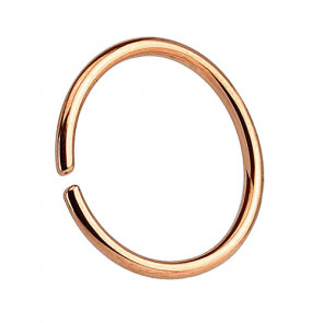 Nasenpiercing Septum Piercing Continuous Ring Roségold IP
