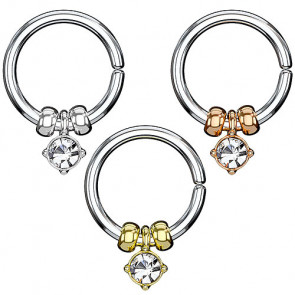 Universal Ohr Piercing Continuous Ring mit Kristall Anhänger