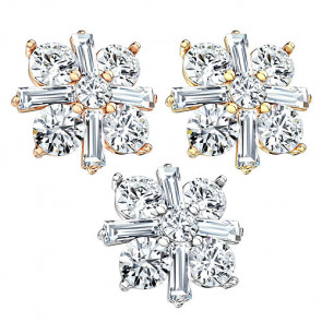 Dermal Anchor Piercing Aufsatz Kristall Princess Cut