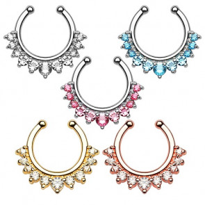 Septum Fake Nasenpiercing Schmuck Strass Kristall Ring