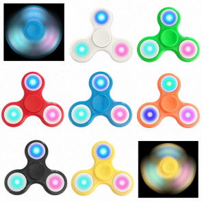 LED Hand Finger Spinner Fidget Anti Stress Konzentration Spielzeug